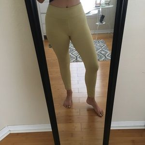 Yellow Outdoor Voices Leggings